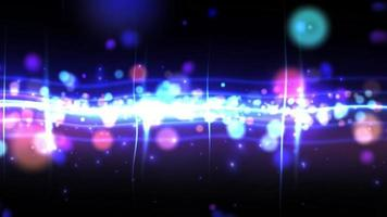 animation de boucle de ligne de particules de lumière bleue video
