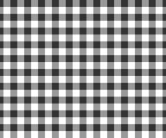 Black and white gingham seamless pattern. Checkered texture for picnic blanket, tablecloth, plaid, clothes. Fabric geometric background, textile design vector