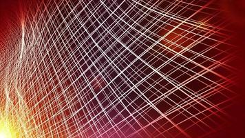 Fondo de tecnología de onda fractal abstracto video