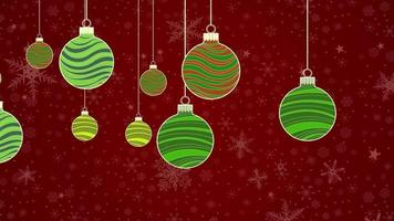 Merry xmas baubles. Christmas, new year and winter holidays themed background animations video