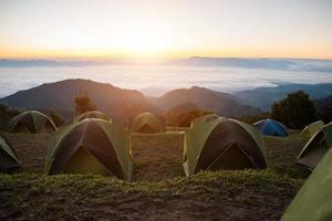 Morning Camping in the mountain background photo