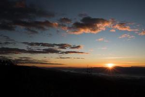 Mountain range in the morning, Silhouette layer mountain photo