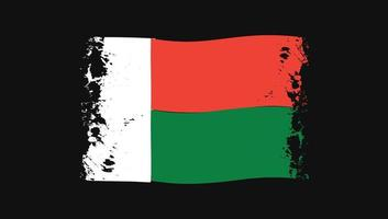 Madagascar Country Png Wavy Flag vector