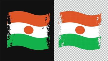 Niger Country Transparent Wavy Flag Grunge Brush png vector