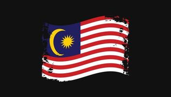 Malaysia Flag Transparent  Painted Brush vector