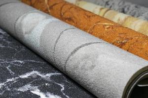 Conjunto de diferentes piedras decorativas para diseño, interior y exterior. foto