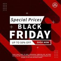 black friday sale banner. digital marketing background vector