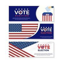 plantilla de banner del día de las elecciones generales de EE. UU. vector