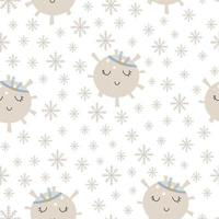 Christmas patterns collection scandinavian hand drawn seamless print. New Year, Christmas, holidays texture for print, paper, design, fabric, background. Vector illustration