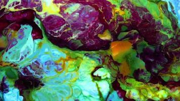 surface liquide coloré abstrait ondulant fond video