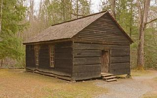 Preserved one-room school house in the wilderness photo