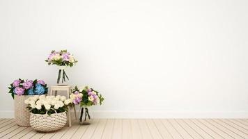 sala de estar u otra flor de decoración de la habitación foto