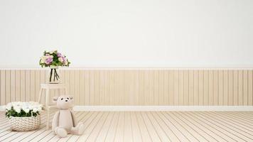 sala de estar o decoración de la habitación del niño flor foto