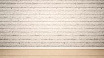 Habitación vacía y pared de ladrillo blanco en apartamento o casa foto