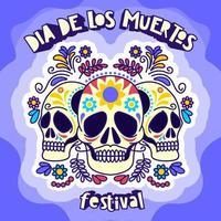 Dia De Los Muertos Festival vector