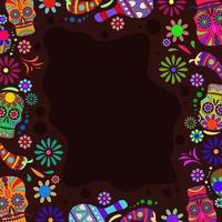 Dia De Los Muertos Festival Background vector