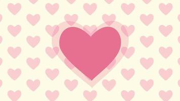 Beautiful love day background video