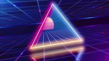 Retro style grid background video