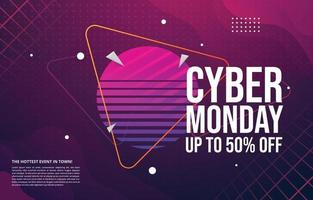 Cyber Monday Sale Poster Template vector