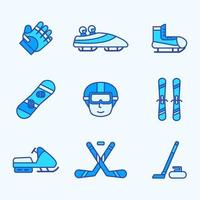 Winter Sport Icon Collection vector