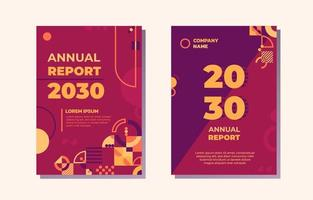 Annual Report Template vector