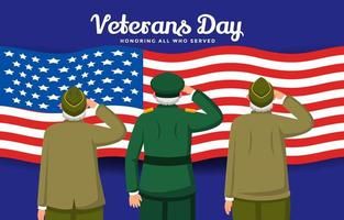Honoring Our Veterans For Their Sacrifices vector