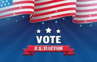 Fondo de las elecciones generales de los Estados Unidos con bandera americana vector