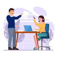 Collaboration Work In The Office vector