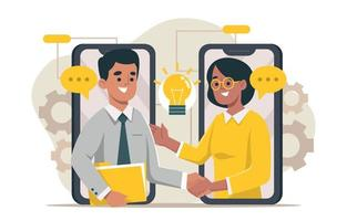 Two Business Partners Shaking Hands vector