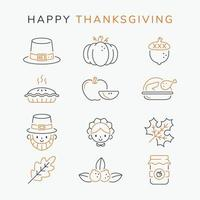 Thanksgiving Day Outline Icon vector