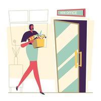 mujer de negocios consiguió promoción nuevo trabajo vector