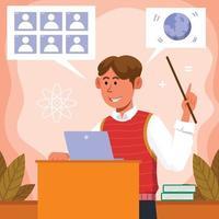 Happy Teacher Day Online Class vector