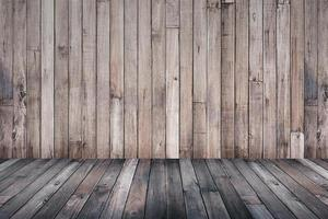 Old wooden background for montage or product presentation photo