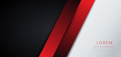 Template corporate banner concept red black grey and white contrast background. vector