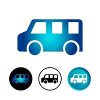 conjunto de iconos de mini bus abstracto vector
