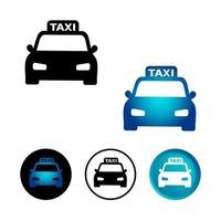 Abstract Taxi Cab Icon Set vector