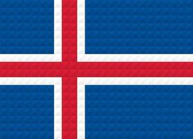 Artistic flag of Iceland with geometric wave concept art design vector