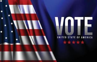 concepto de fondo de voto general de Estados Unidos vector