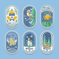Winter Wonderland Season Festivity illustrative Sticker vector