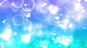 blue heart falling loop animation video