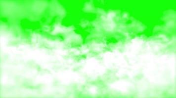 Fog cloud smoke loop animation with green screen video