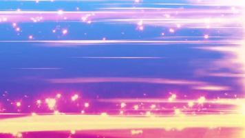 efecto de partículas con fondo de bucle de línea de velocidad video