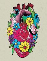 heart tattoo old school vector