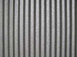 Grey corrugated steel texture background photo