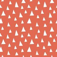 Red white abstract seamless pattern. Vector illustration of triangles, different sizes