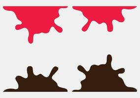 chocolate and syrup background, drop, chocolate, syrups, melted vector