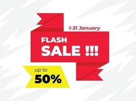 venta flash, descuento, publicidad vector