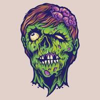 Vintage Zombie Horror Illustrations vector