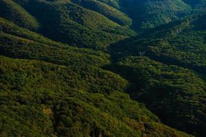 paisaje de montaña georgiano foto
