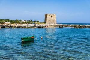 The bay of San Vito and its abbey, the sea of Polignano a Mare photo